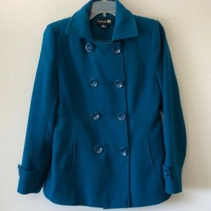 Forever 21 wool double breasted coat sz Med
